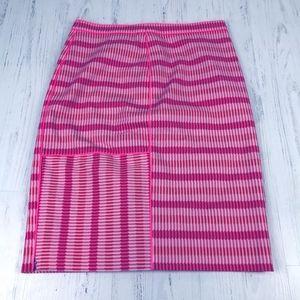 Per Se Hot Pink Stripe Pencil Skirt
